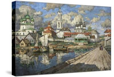 View of an Old Town, 1919-Konstantin Ivanovich Gorbatov-Stretched Canvas Print