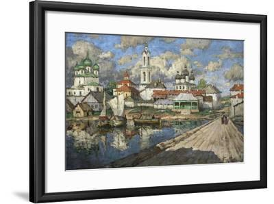 View of an Old Town, 1919-Konstantin Ivanovich Gorbatov-Framed Giclee Print