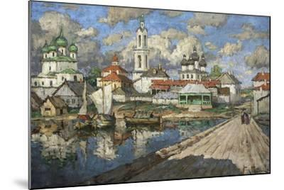 View of an Old Town, 1919-Konstantin Ivanovich Gorbatov-Mounted Giclee Print