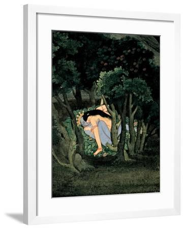 Krishna Embraced by Radha, Ca 1775--Framed Giclee Print