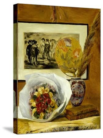 Still Life with Bouquet, 1871-Pierre-Auguste Renoir-Stretched Canvas Print