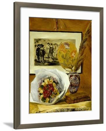 Still Life with Bouquet, 1871-Pierre-Auguste Renoir-Framed Giclee Print