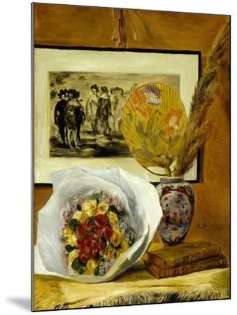 Still Life with Bouquet, 1871-Pierre-Auguste Renoir-Mounted Giclee Print