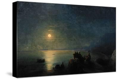 Ancient Greek Poets by the Water's Edge in the Moonlight, 1886-Ivan Konstantinovich Aivazovsky-Stretched Canvas Print