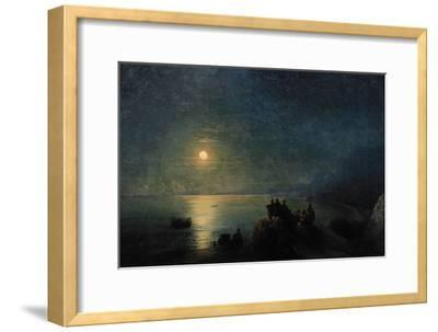 Ancient Greek Poets by the Water's Edge in the Moonlight, 1886-Ivan Konstantinovich Aivazovsky-Framed Giclee Print