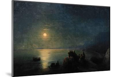 Ancient Greek Poets by the Water's Edge in the Moonlight, 1886-Ivan Konstantinovich Aivazovsky-Mounted Giclee Print