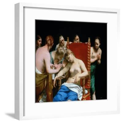 The Death of Cleopatra, Ca 1662-Guido Canlassi-Framed Giclee Print