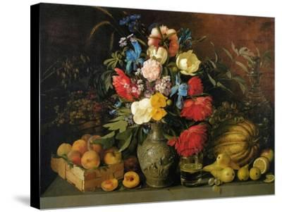 Flowers and Fruits, 1839-Ivan Phomich Khrutsky-Stretched Canvas Print
