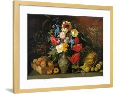 Flowers and Fruits, 1839-Ivan Phomich Khrutsky-Framed Giclee Print