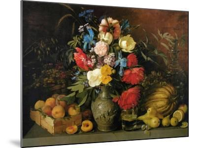 Flowers and Fruits, 1839-Ivan Phomich Khrutsky-Mounted Giclee Print