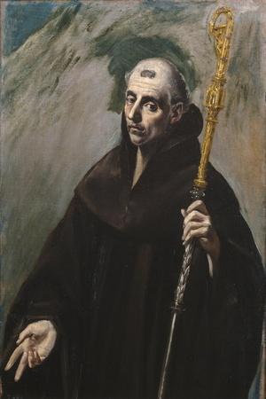 Saint Benedict of Nursia, 1577-1579-El Greco-Framed Giclee Print