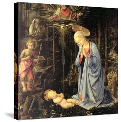 The Adoration in the Forest, 1459-Fra Filippo Lippi-Stretched Canvas Print