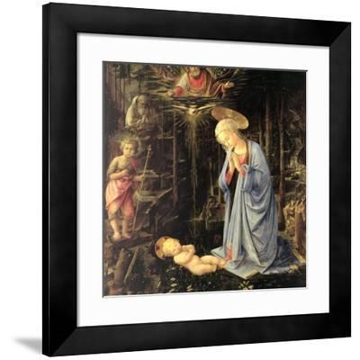 The Adoration in the Forest, 1459-Fra Filippo Lippi-Framed Giclee Print