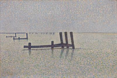 The Channel at Nieuwpoort, C. 1889-Alfred William Finch-Premium Giclee Print