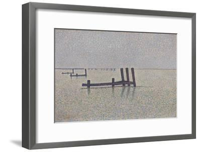 The Channel at Nieuwpoort, C. 1889-Alfred William Finch-Framed Giclee Print