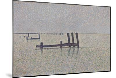 The Channel at Nieuwpoort, C. 1889-Alfred William Finch-Mounted Giclee Print