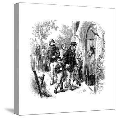 Villagers Going to Church on Sunday, London, 1872--Stretched Canvas Print