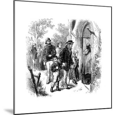 Villagers Going to Church on Sunday, London, 1872--Mounted Giclee Print