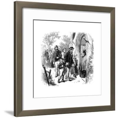 Villagers Going to Church on Sunday, London, 1872--Framed Giclee Print