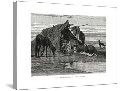 Tziganes Camping in the Puszta, 1886--Stretched Canvas Print