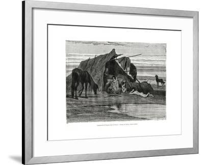 Tziganes Camping in the Puszta, 1886--Framed Giclee Print