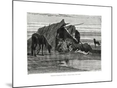 Tziganes Camping in the Puszta, 1886--Mounted Giclee Print