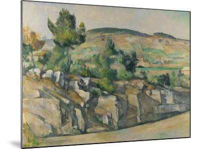 Hillside in Provence, C. 1890-Paul C?zanne-Mounted Giclee Print