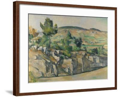 Hillside in Provence, C. 1890-Paul C?zanne-Framed Giclee Print