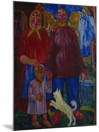 The Family of the Serednyaks, 1929-Viktor Nikandrovich Palmov-Mounted Giclee Print