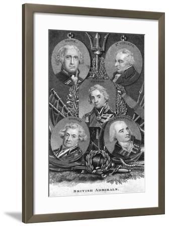 British Admirals--Framed Giclee Print