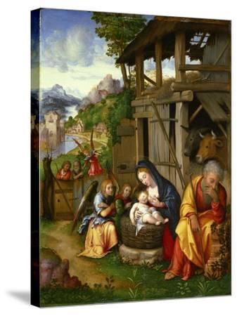 Nativity, Ca 1515-Lorenzo Leonbruno-Stretched Canvas Print