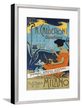 Jeweller A. Calderoni (A. Calderoni Gioiellier), Milano, 1898-Adolfo Hohenstein-Framed Giclee Print
