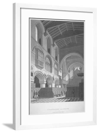 Interior View of the Church of St Bartholomew-The-Great, Smithfield, City of London, 1800--Framed Giclee Print
