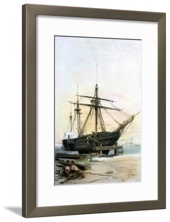 Frigate, 19th Century- L & Lauvergne Sabatier-Framed Giclee Print