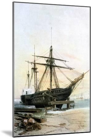 Frigate, 19th Century- L & Lauvergne Sabatier-Mounted Giclee Print