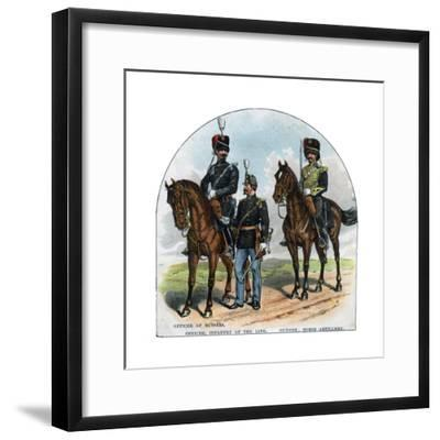 Officer of Hussars, Officer, Infantry of the Line, Gunner, Horse Artillery, 19th Century--Framed Giclee Print