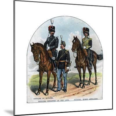 Officer of Hussars, Officer, Infantry of the Line, Gunner, Horse Artillery, 19th Century--Mounted Giclee Print