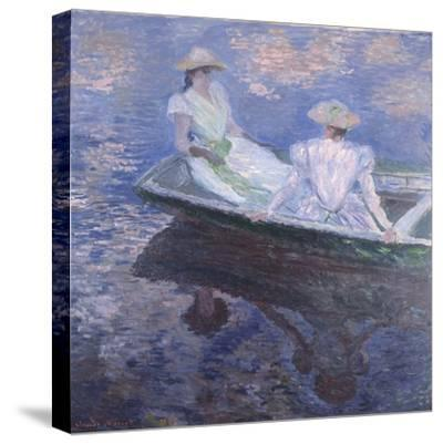 On the Boat, 1887-Claude Monet-Stretched Canvas Print