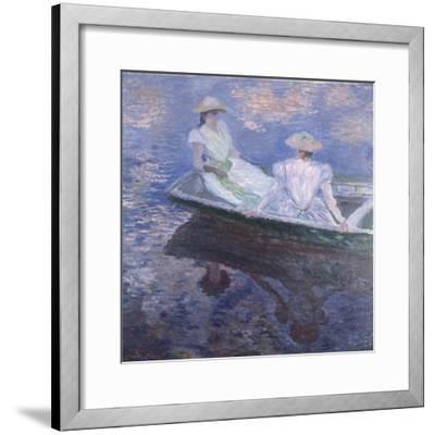 On the Boat, 1887-Claude Monet-Framed Giclee Print