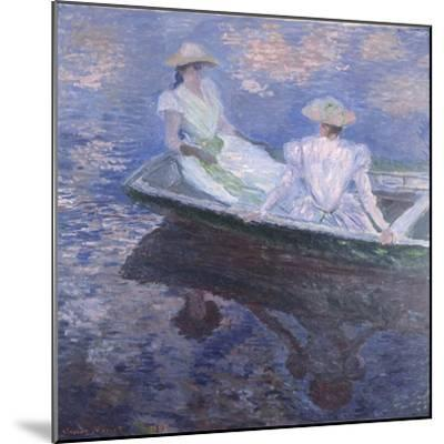On the Boat, 1887-Claude Monet-Mounted Giclee Print