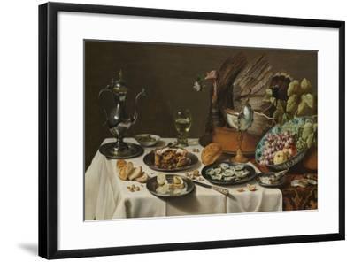 Still Life with Turkey Pie, 1627-Pieter Claesz-Framed Giclee Print