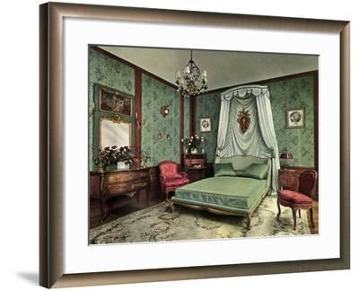 A Bedroom from the Reign of Louis XV Room, Hotel Des Saints Pères, Paris, 1938--Framed Giclee Print