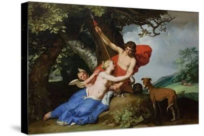 Venus and Adonis, 1632-Abraham Bloemaert-Stretched Canvas Print