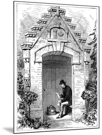 Benjamin Disraeli (1804-188) Reading Letters in the Porch of Hughenden Lodge, 19th Century--Mounted Giclee Print
