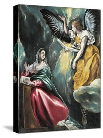 The Annunciation, 1595-1600-El Greco-Stretched Canvas Print