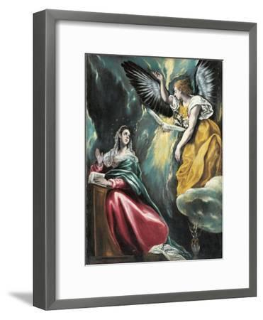 The Annunciation, 1595-1600-El Greco-Framed Giclee Print