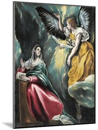 The Annunciation, 1595-1600-El Greco-Mounted Giclee Print