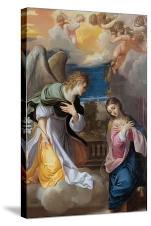The Annunciation, 1603-1604-Lodovico Carracci-Stretched Canvas Print