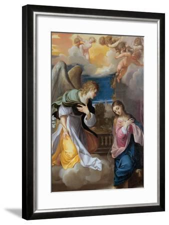 The Annunciation, 1603-1604-Lodovico Carracci-Framed Giclee Print