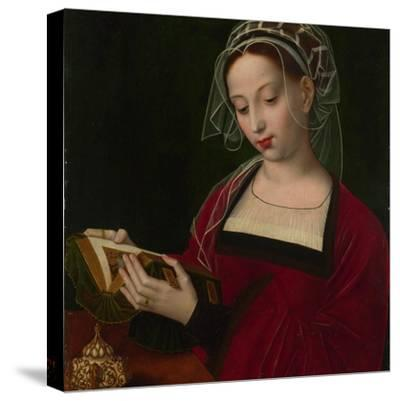 Mary Magdalene Reading, C. 1525-Ambrosius Benson-Stretched Canvas Print